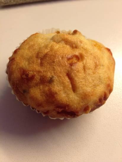 Cupcakes/muffins met kaas, spek en bieslook recept