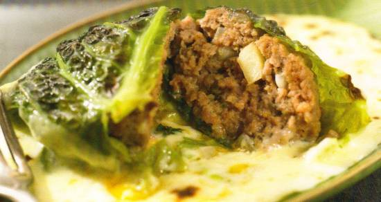Gevulde groene koolrolletjes recept