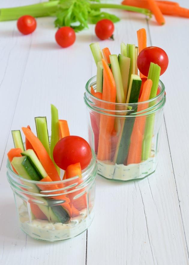 Gezonde hapjes  groente dip