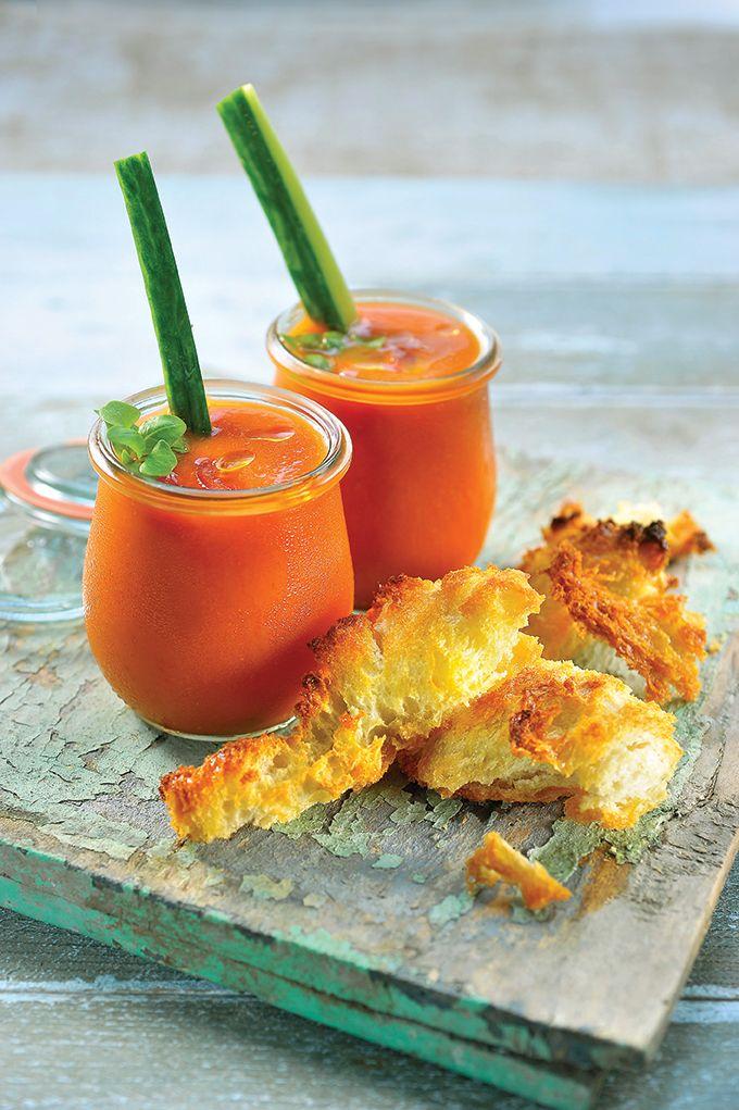 Recept 'gazpacho met lookbroodjes'