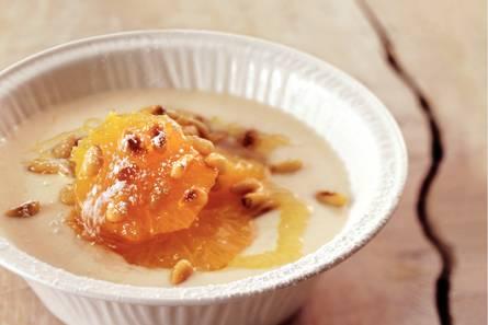 Honingmandarijn met vanillekwark