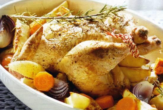 Kip met geroosterde wintergroenten recept