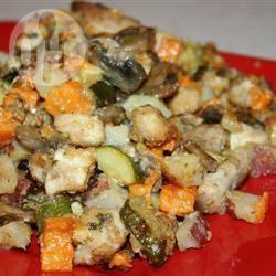 Ovenschotel van kip en groenten recept