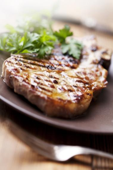 Recept 'varkenskotelet met gegrilde asperges'