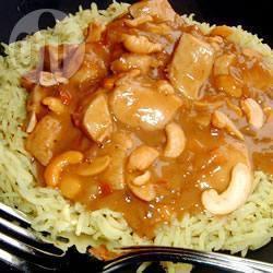 Thaise kip met cashewnoten recept