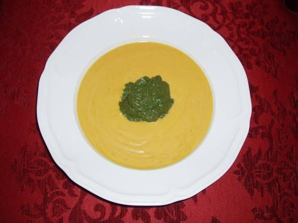 Pompoen-spinaziesoep recept