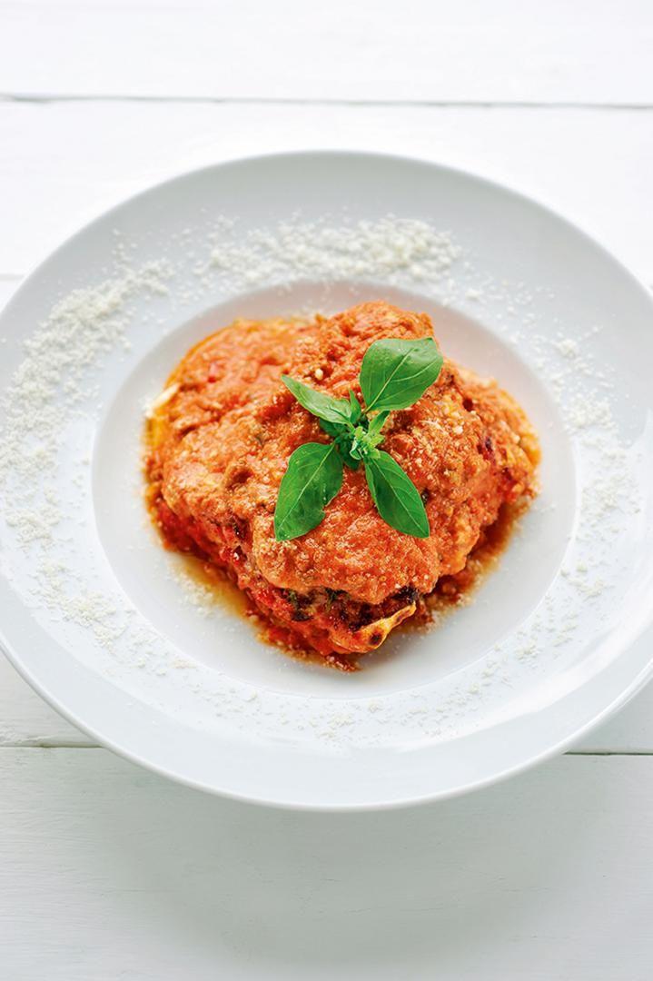 Recept 'lasagne met aubergines'
