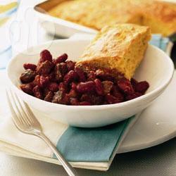 Chili con carne met maïsbrood recept