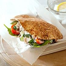 Pita met kip en tzatziki recept