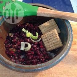 Relish-sausje van granaatappel en koriander recept