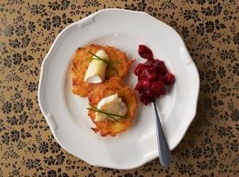 Rösti met geitenkaas &; cranberry's recept