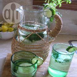 Munt en komkommer water recept