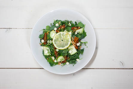 Fit girl chris' lichtfrisse salade