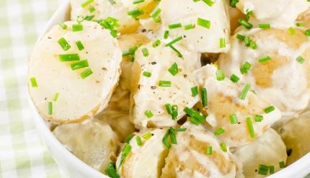 Aardappelsalade met citroenmayonaise recept