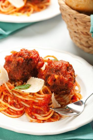 Recept 'spaghetti met gehaktballetjes'