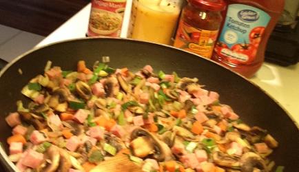 Chinese omelet ( foe yong hai ) met roerbak groenten recept ...