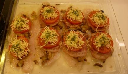 italiaanse vis met tomaten uit de oven recept