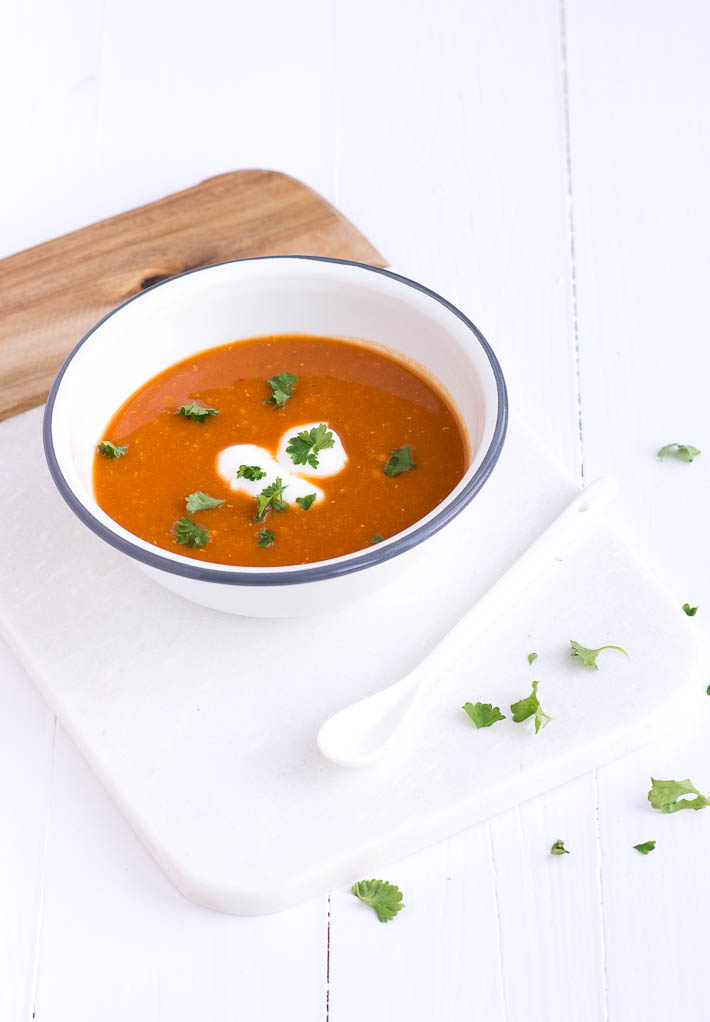 Lekker recept voor indiase rode linzensoep met tomaat