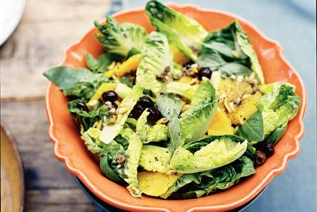 Salade met sinaasappel en ansjovis