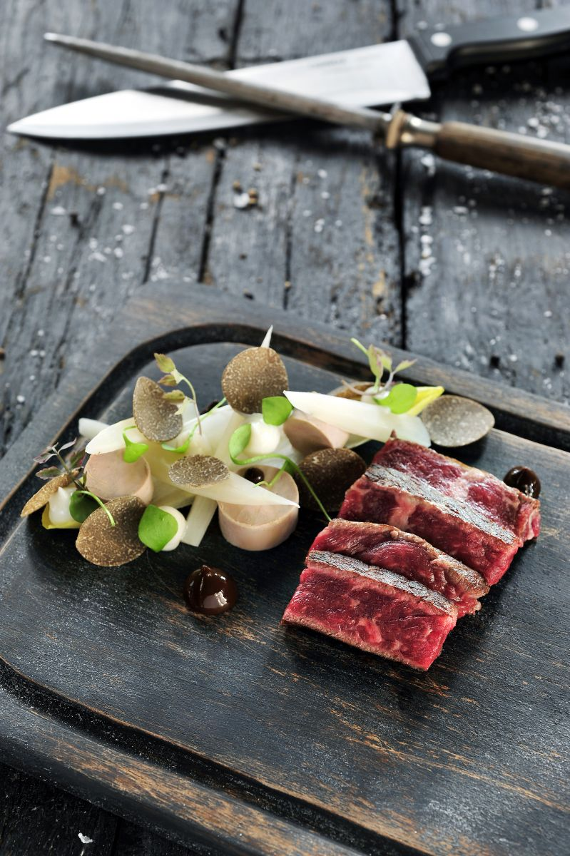 Recept 'steak rossini met schorseneren en truffel'