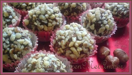 Chocolade/hazelnoottruffels recept