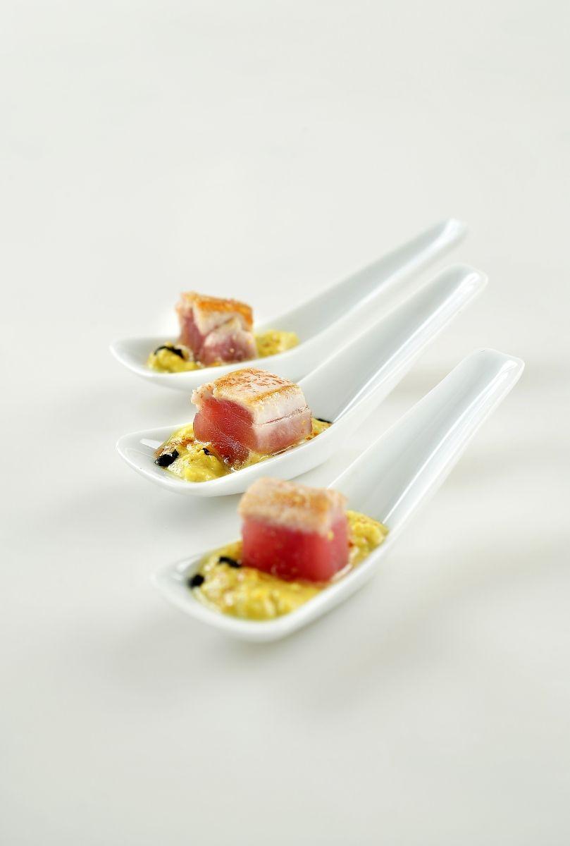 Recept 'hapje met gegrilde tonijn'