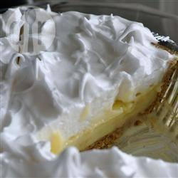 Taart van banketbakkersroom en meringue recept