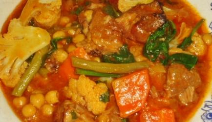 Lamschouder met veel groenten uit slowcooker recept