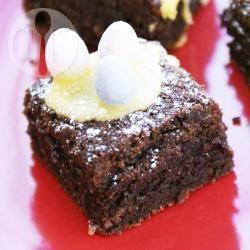 Chocolade brownies voor pasen recept