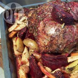 Gebraden lamsvlees met groenten recept
