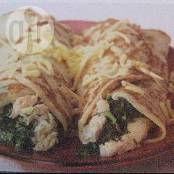 Zalm-spinazie pannenkoeken recept