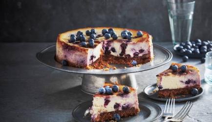 Blauwe-bessencheesecake recept