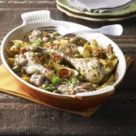 Ovenschotel met citroenkip, olijven en kerstomaatjes recept ...