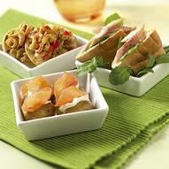 Hapjes met zalm, paling en garnalen tapas recept