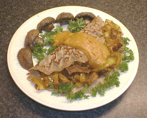 Indian-wrapper with mushrooms: recept