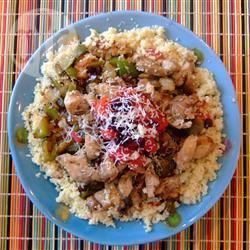 Couscous met kip en veel groenten recept