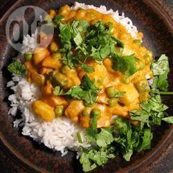 Vegetarische kurma recept