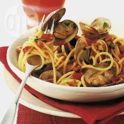 Spaghetti met venusschelpen recept