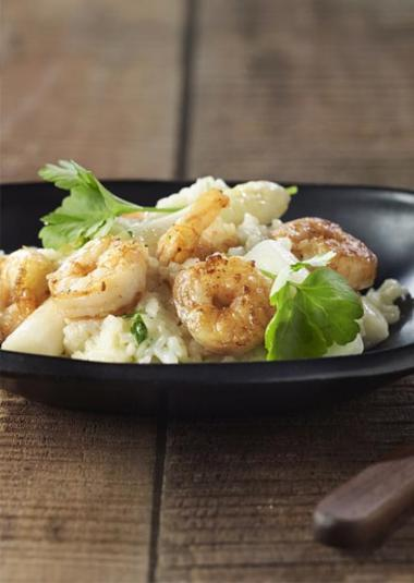 Recept 'risotto met asperges, scampi en tongerlo blond'