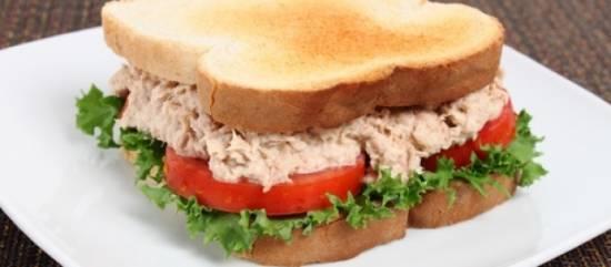 Sandwich met tonijn recept