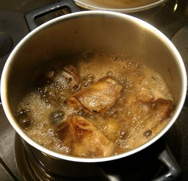 Romige stoofpot van konijn en appel recept