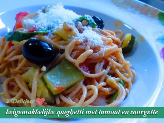 Keigemakkelijke spaghetti met tomaat en courgette recept ...