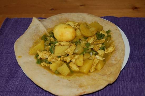 Roti met kouseband en kip recept