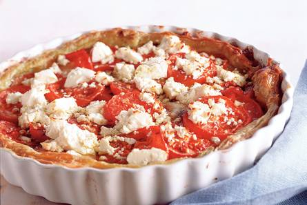 Tomatentaart met pesto