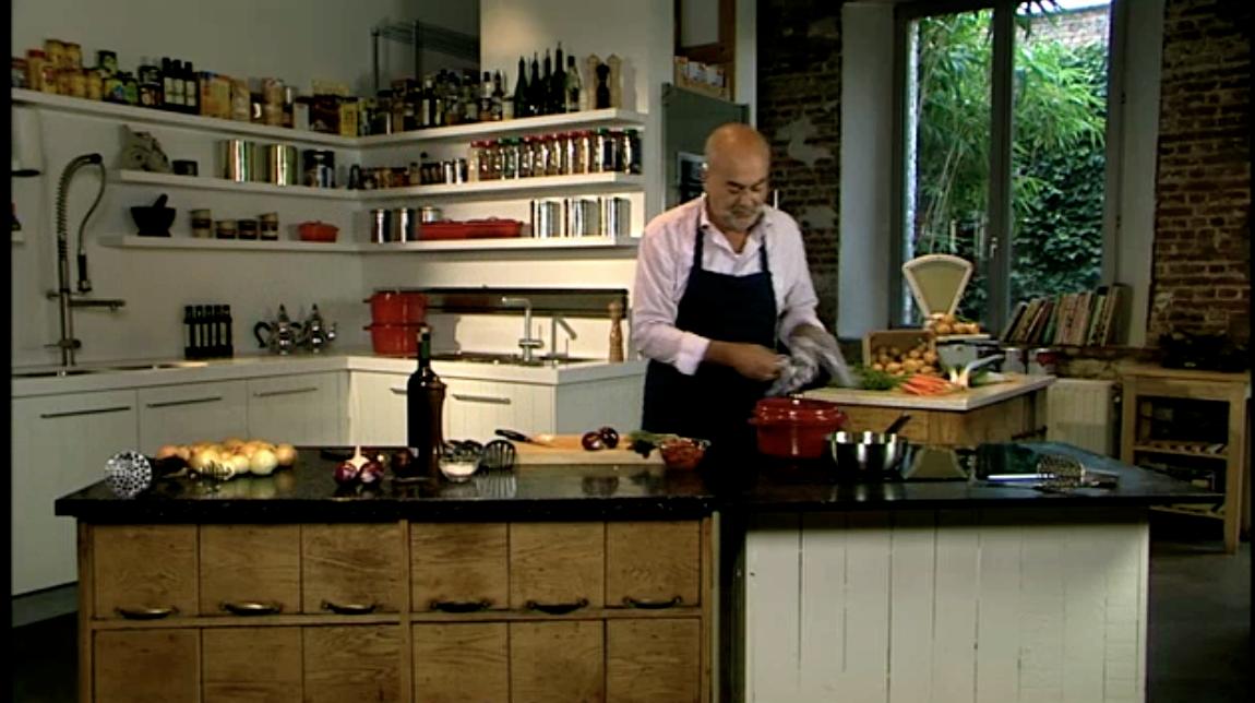 Recept 'witloofstoemp met krokant gebakken spekblokjes'