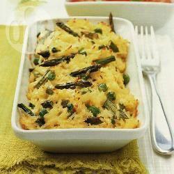 Rijst met kaas en asperges recept