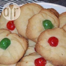 Zandkoekjes met een kers recept