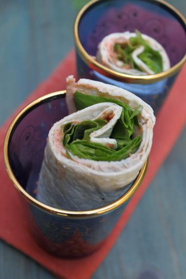 Recept 'wrap met chutney van tomaat & kalkoen'
