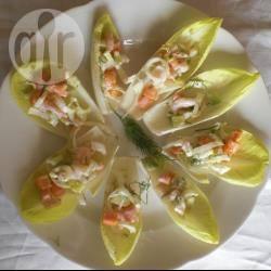 Witlofsalade met krab recept