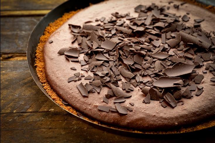 Herfstig lekkere chocoladetaart met speculoos